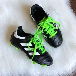 Adidas Kids Black Neon Green Soccer Cleats 10.5